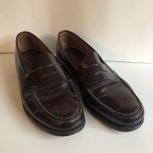 Bass Brown Loafers Dress Shoes 10.5 Leather